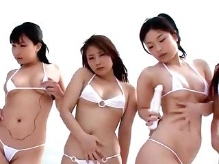 Japanese All Girl Orgy On The Beach