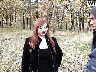 Red-haired Odile Gets Her Mouth Demolished By Dudes Man Meat